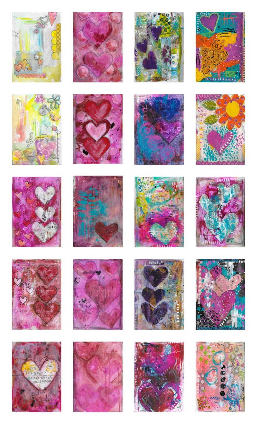 Mary Janes Love Collection Print by Jane Martin | Collage made from Love Collection Photos