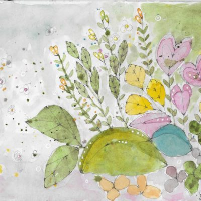 Pastel Florals by Jane Martin | Original Watercolor Painting