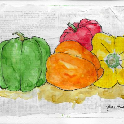 Peppers by Jane Martin | Original Watercolor Painting