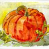 Pumpkin Patch by Jane Martin | Original Watercolor Painting