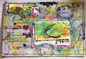 Scalloped Envelope Mail Art by Jane Martin | Original Mixed Media Art